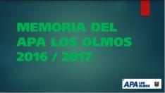 Memoria 2016/2017